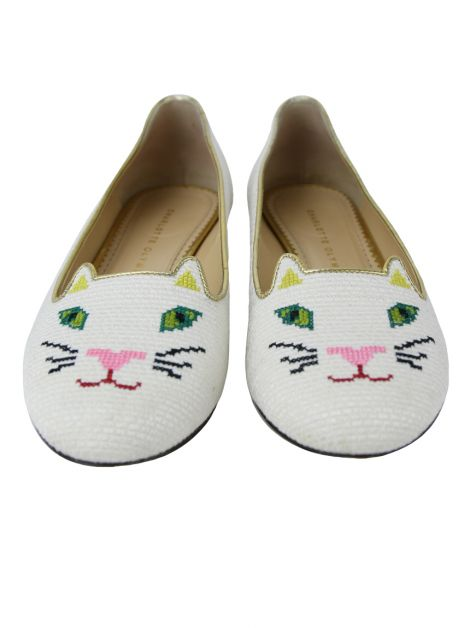 Sapatilha Charlotte Olympia Kitty Off-White
