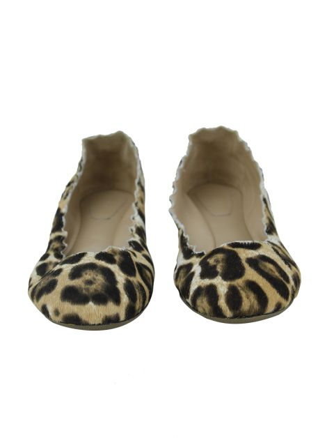 Sapatilha Chloé Lauren Scalloped Animal Print