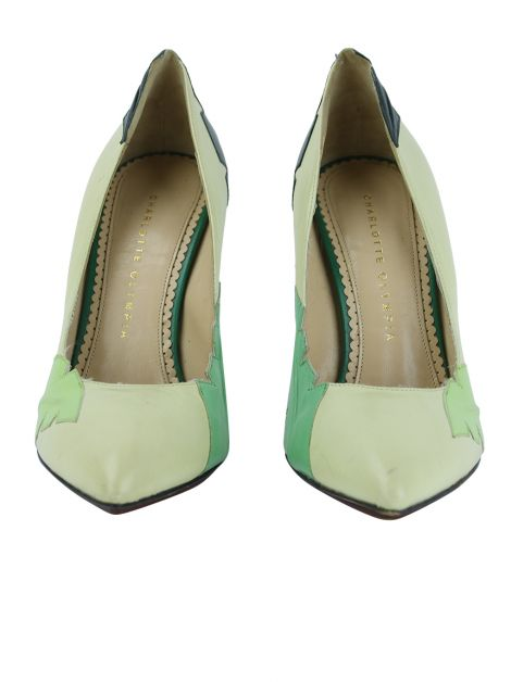Sapato Charlotte Olympia Leaf Verde