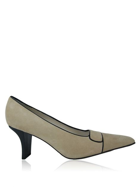 Sapato Christian Dior Suede Bege
