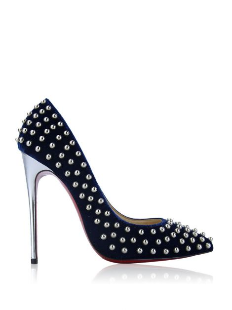 Sapato Christian Louboutin Billy Studded Azul