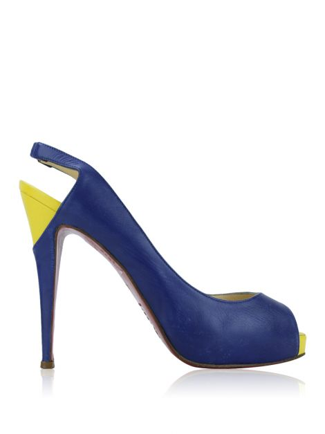 Sapato Christian Louboutin Color Block Azul