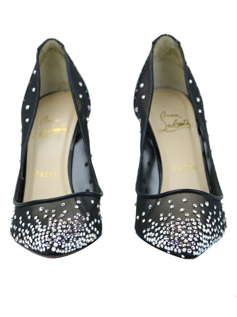 Sapato Christian Louboutin Follies Strass Preto