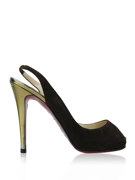 Sapato Christian Louboutin Number Prive Marrom