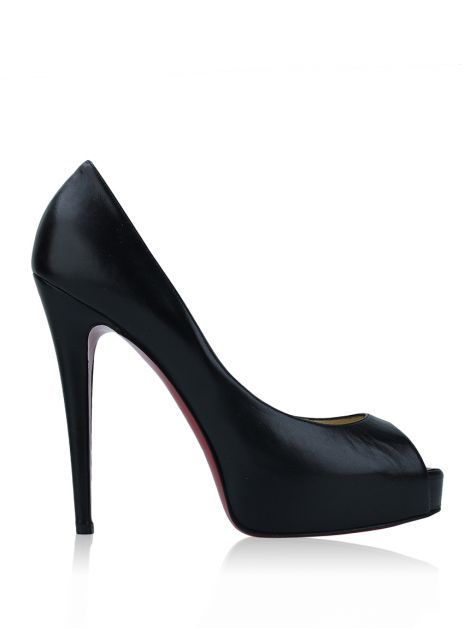 Peep Toe Christian Louboutin Very Prive Preto