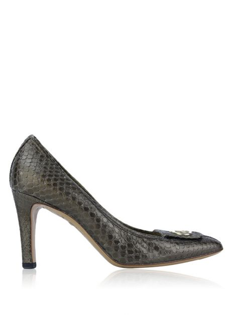 Sapato Gucci Interlocking GG Pumps Dourado