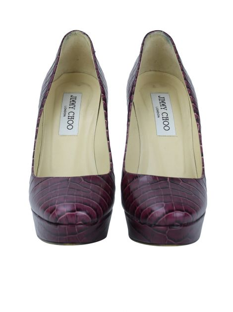Scarpin Jimmy Choo Cosmic Croco Burgundy