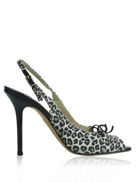 Sapato Jimmy Choo Slingback Animal Print