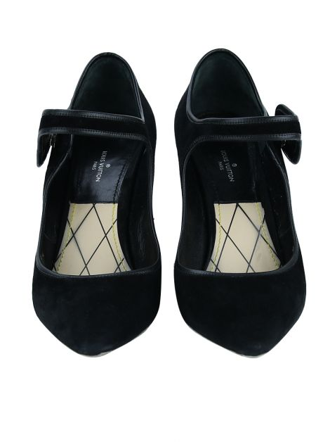 Sapato Louis Vuitton Mary Jane Preto