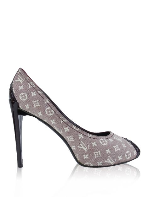 Sapato Louis Vuitton Peep Toe Sépia