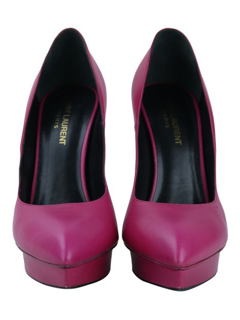 Sapato Yves Saint Laurent Couro Rosa