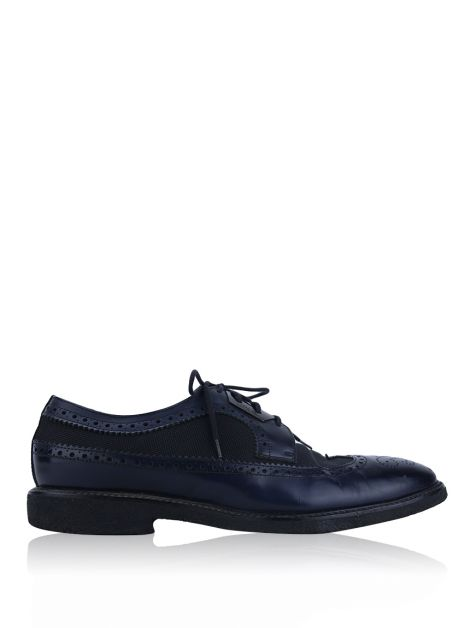 Sapato Versace Collection Oxford Marinho