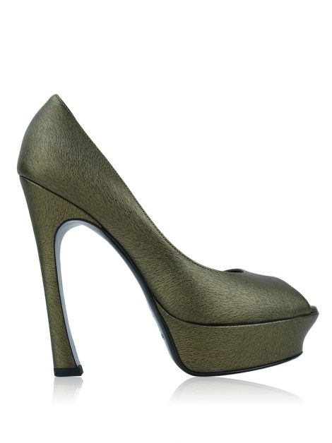 Peep Toe Yves Saint Laurent Palais Bronze