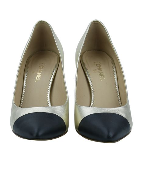 Scarpin Chanel Bicolor Metalizado