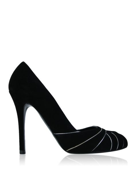 Scarpin Ralph Lauren Collection Suede Preto