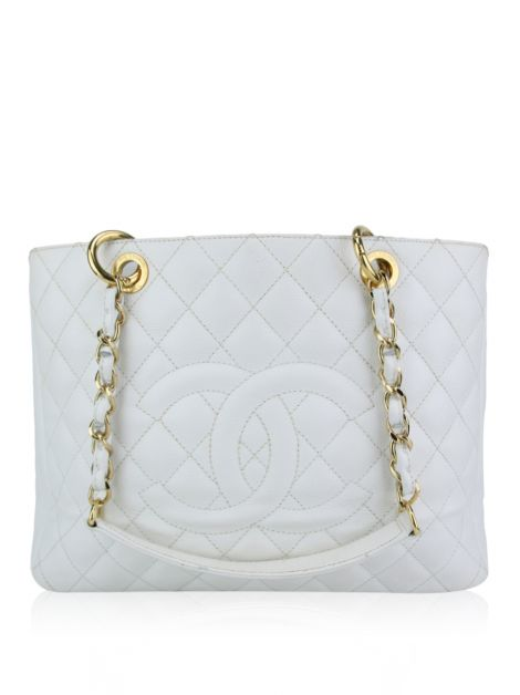 Bolsa Chanel Shopper Branca