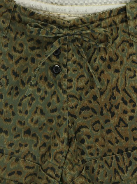 Shorts Cris Barros Animal Print Verde
