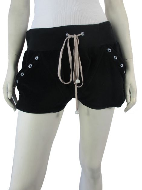 Shorts Erre Plush Preto