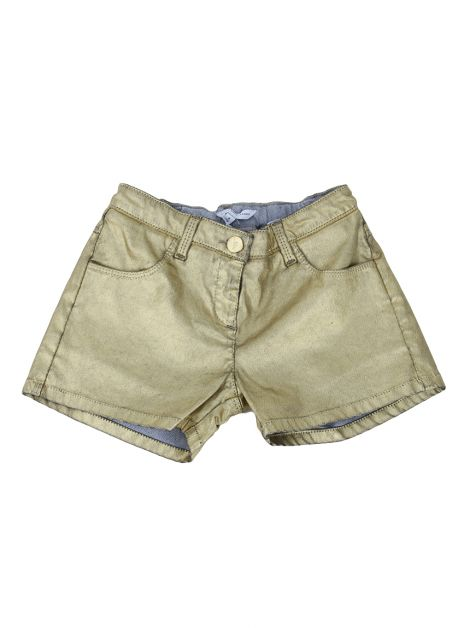 Shorts Little Marc Jacobs Resinado Dourado