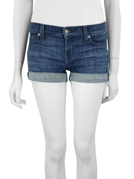 Shorts Seven For All Mankind Curto Jeans