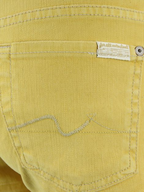 Shorts Seven For All Mankind Jeans Amarelo