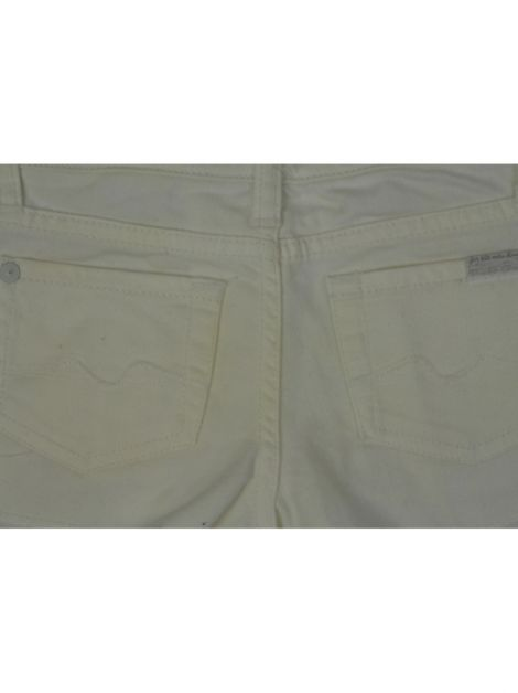 Shorts Seven For All Mankind Jeans Branco Infantil