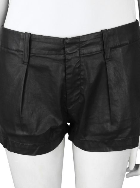 Shorts Seven For All Mankind Preto Resinado