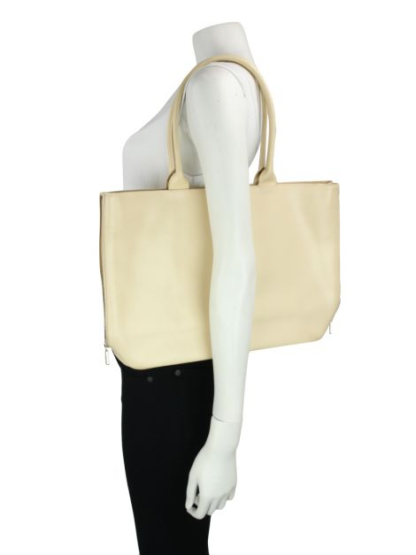 Bolsa Furla Side Zip Shopper Tote Creme