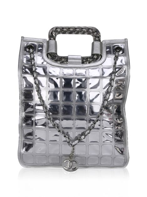 Bolsa Chanel Silver Ice Cube Shopper