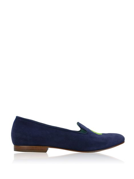 Slipper Blue Bird Camurça Azul