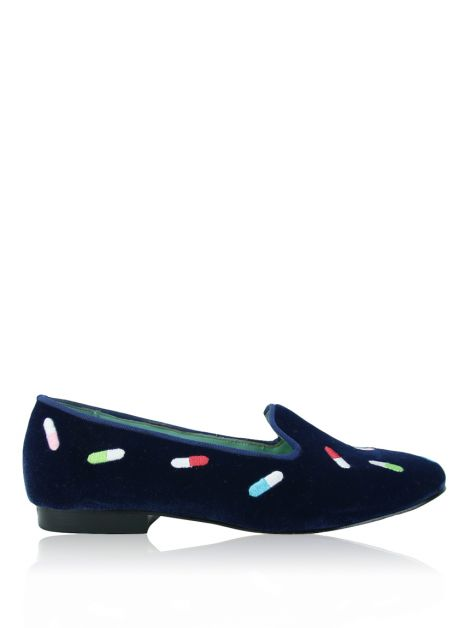 Loafer Blue Bird Veludo Azul