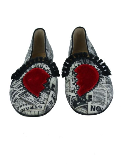 Slipper Charlotte Olympia Broken Heart Estampa