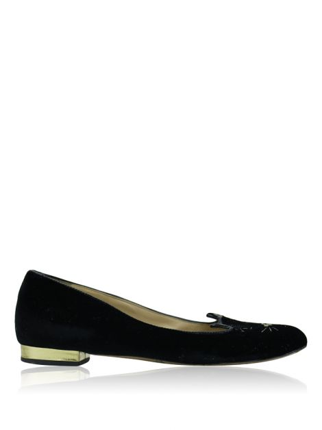 Slipper Charlotte Olympia Kitty Preta