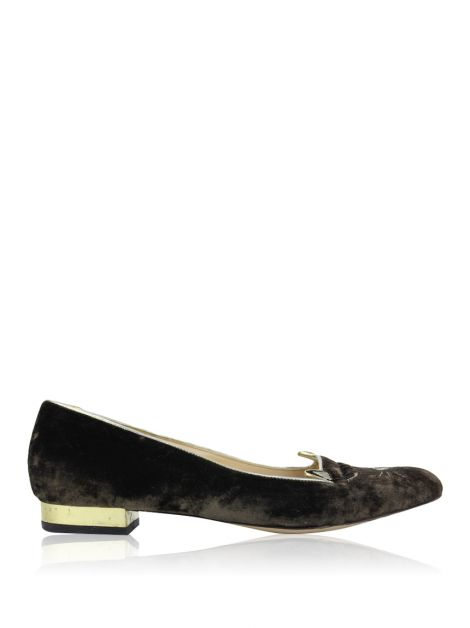 Slipper Charlotte Olympia Kitty Veludo Marrom