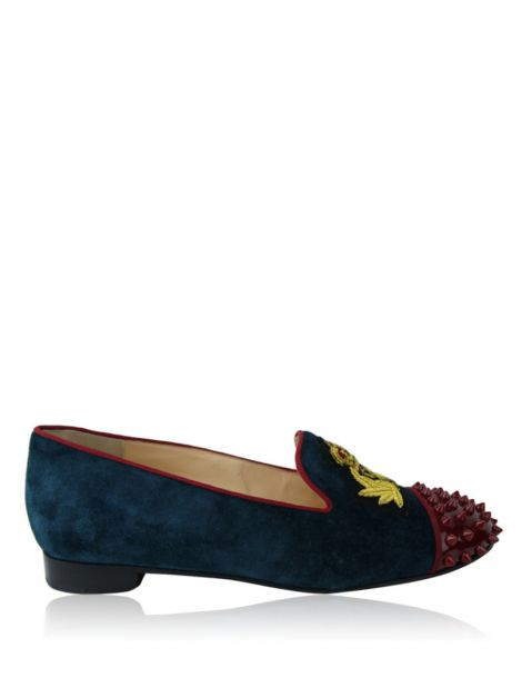 Slipper Christian Louboutin Camurça Estampado