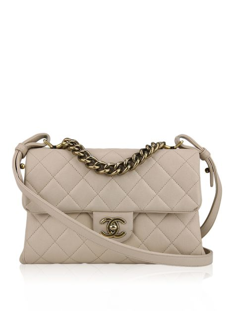 Bolsa Chanel Small Trapezio Bag Bege