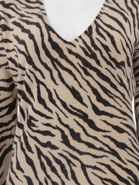 Sweater Kinross Cashmere Estampa Animal Print