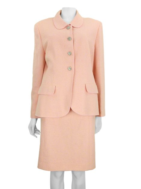 Tailleur Chanel Tweed Rosa Claro
