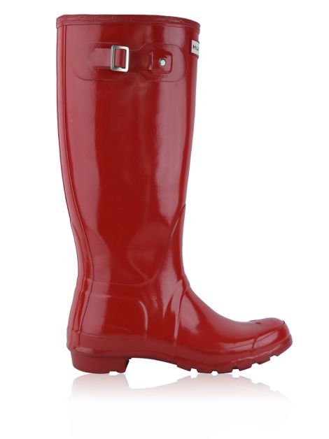 Galocha Hunter Tall Gloss Wellington Boots Vermelha