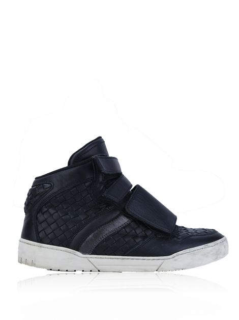 Tênis Bottega Veneta High Top Intrecciato Masculino
