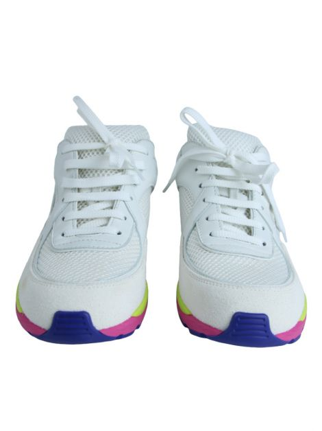 Tênis Chanel Cc Logo Suede Sneakers Tennis Trainers Rainbow Branco