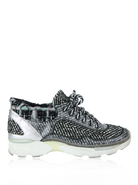 Tênis Chanel Tweed Low Top Estampado