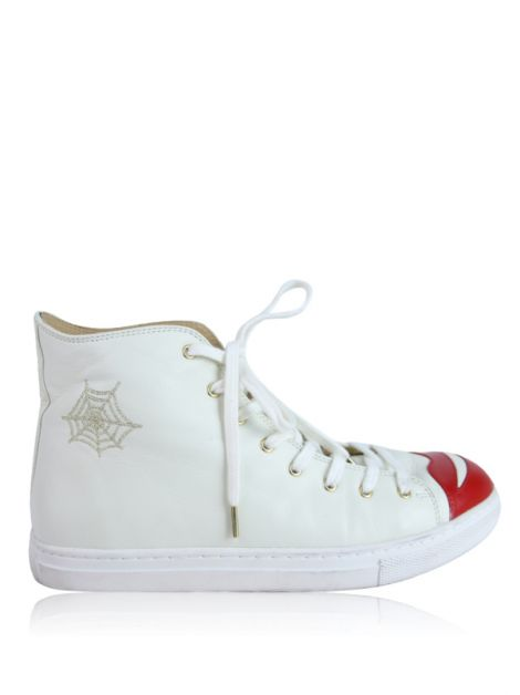 Tênis Charlotte Olympia Kiss Me High Top Off-White
