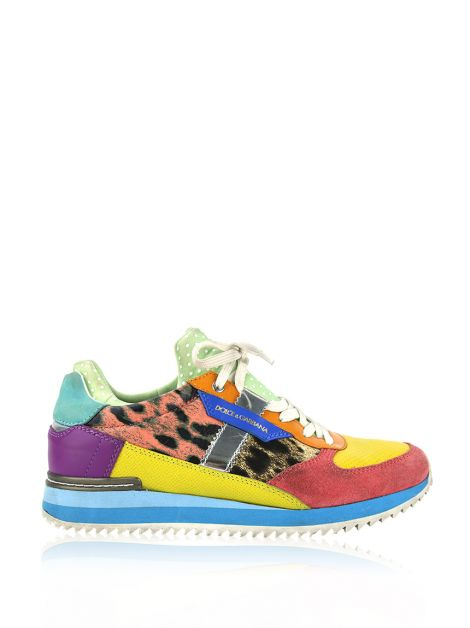 Tênis Dolce & Gabbana Panelled Sneakers Colorido