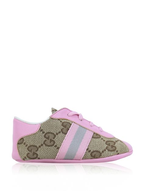 Tênis Gucci GG Canvas Rosa Baby