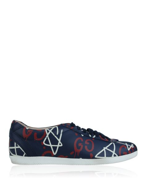 Tênis Gucci Marinho Ghost Print Low Top