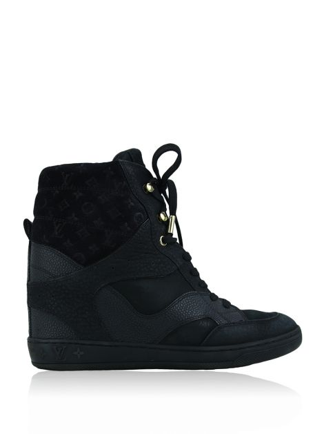Sneaker Louis Vuitton Cliff Top Wedge Preto