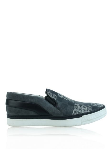 Tênis Louis Vuitton Slip On Damier Grafite Masculino
