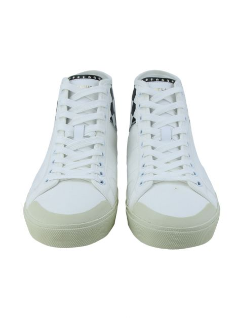 Tênis Yves Saint Laurent White Check Court Classic High-Top Masculino
