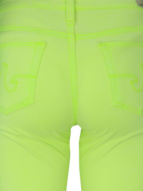 Calça Adriano Goldschmied The Slit Verde Neon